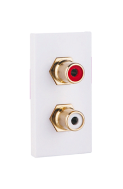 25X50 Faceplate with 2XRCA Socket